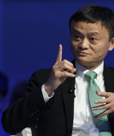 Alibaba Group Founder and Executive Chairman, China's Jack Ma speaks during a panel session on the second day of the World Economic Forum, on January 18, 2017 in Davos.    / AFP / FABRICE COFFRINI        (Photo credit should read FABRICE COFFRINI/AFP/Getty Images)